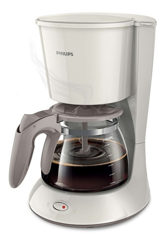 Cafetera Philips Daily Collection Hd7447 Blanco Y Beige Seda 220v