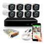 Kit Cftv 8 Cameras Segurança Full Hd 1080p Dvr Giga 8 Canais Original