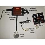 Kit Termostato Para Incubadora + Cooler Listo Para Usar.