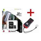 Memoria Micro Sd Kingston 32gb Canvas 80 M/s + Pendrive