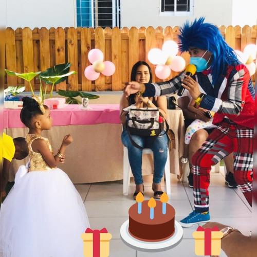 Payaso, Combo Para Cumpleaño, Payasa, Decoracion, Animador