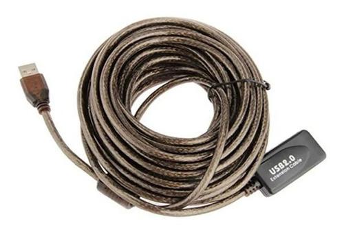 Cable Extensión Usb Activo Blindado 15 Metros