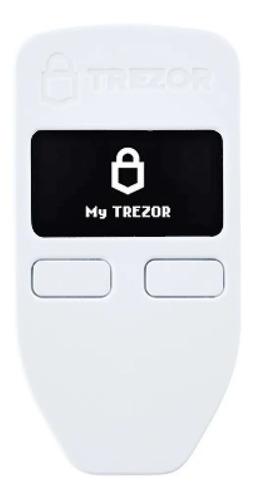 Billetera Hardware De Criptomonedas Trezor Modelo One Blanco