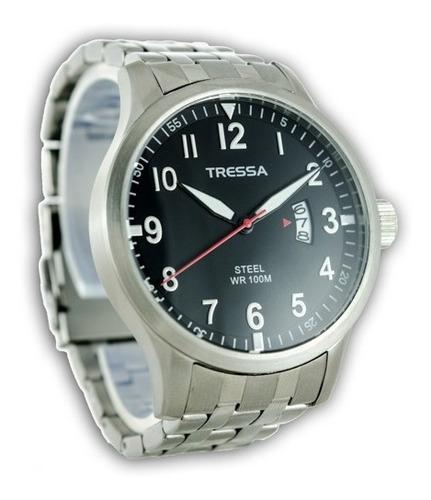 Reloj Hombre Tressa Walker Acero Wr100m Impacto Online