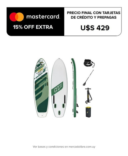 Tabla Stand Up Paddle Bestway Surf + Remo + Inflador + Bolso