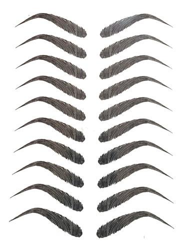 20  Pares Tatuajes De Cejas , Aspecto Natural