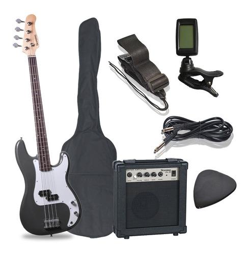 Pack De Bajo Scorpion Psb-200bk + Amplificador + Accesorios