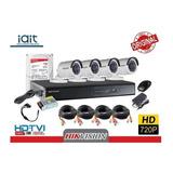 Kit Cctv Profesional Hikvision 4ch Hd 720p Dd 1tb