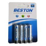 4 Baterías Pilas Aaa Carbón 1.5 V Beston