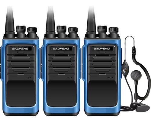 Kit X 3 Handy Baofeng Bf888s Max Radio Walkie Talkie Uhf Con Auricular