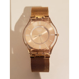 Reloj Swatch Mujer Hello Darling Sfp115pm Impecable Sin Uso