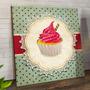Quadro Decorativa  Gourmet Bebidas Vintage Cupcakes Bq0 Original