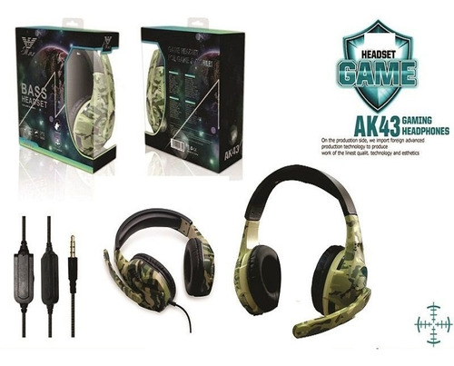 Audifonos Gamer Headset Camuflaje