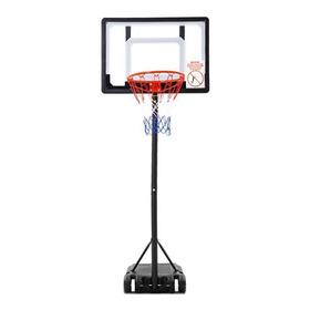 Tablero Basketball Policarbonato Altura Regulable Con Base