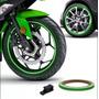 Friso Faixa Adesivo Refletivo Roda Moto Carro Verde 1005 Original