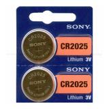 Batería Pila Cr2025 Nueva Sony Original Litio, 3v, Pack X 5