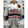 Camisa Manchester United 1998-99 Branca Beckham 7 À P/ Entre Original