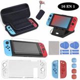 Kit De Accesorios Con Estuche Para Nintendo Switch 16 En 1