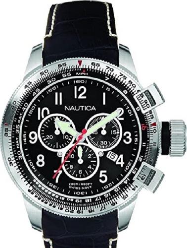 Reloj En Acero Nautica Bfc Chrono Yatch Club A29504
