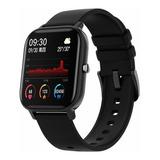 Smartwatch Colmi P8 1.4  Caja De  Aleación  Black Malla  Black De  Silicona