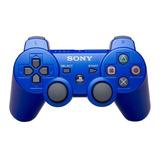 Control Joystick Inalámbrico Sony Playstation Dualshock 3 Metallic Blue