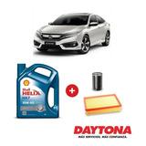 Cambio De Aceite Shell Semi-sintético Y Filtros Honda Civic