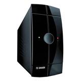 Ups Ts Shara Powerups 700 700va Entrada De 115v/220v Ca E Saída De 115v Ca Preto