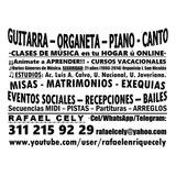 Clases A Domicilio: Guitarra Organeta Piano Canto $30.000.oo
