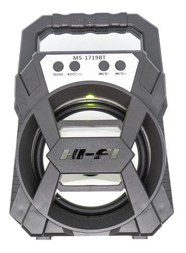 Parlante Bluetooth Portátil Luz Led Multimedia 8w Recargable