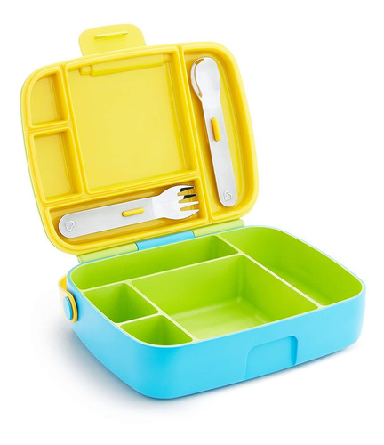 Fiambrera Para Niños Pequeños Munchkin Bento Box Amarillo