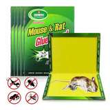 Pack 10 Laminas Trampa Atrapa Rata Ratón Pegamento