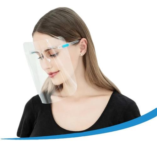 Careta Protectora Facial Lentes Certificado 10pz