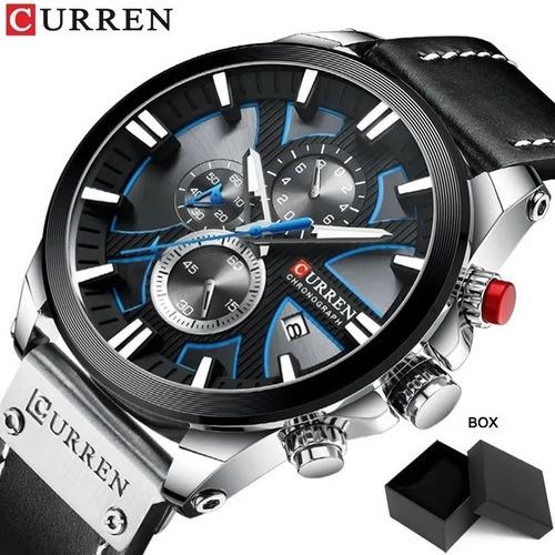 Relógio Curren Masculino Quartzo Original + Caixa + Nf