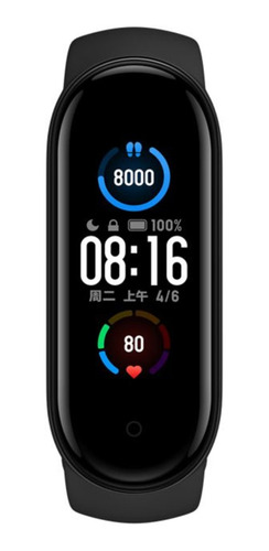 Xiaomi Mi Smart Band 5 1.1  Caja De  Plástico Pc Malla  Black De  Elastómero Termoplástico Y Aleación De Aluminio Xmsh10hm