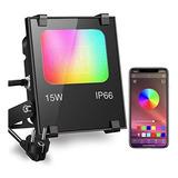 Luz Led Reflector Para Exteriores Wi Fi Con Aplicacion Color