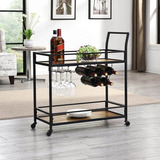 Firstime Co Gardner Bar Industrial Carrito   H X  L X  ...