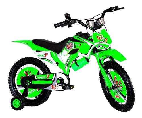 Bicicleta Para Niños Rin 16 Tipo Moto