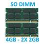 Memoria 4gb 2x 2gb Notebook Positivo Sim+ P450l P457p R330b Original