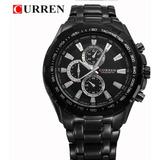 Reloj Curren  Para Hombre  Correa De Acero Modelo 8023