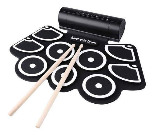 Bateria Electronica Musical Flexible 9 Pad Pedal + Parlante