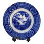 Prato Antigo Em Porcelana Borrão Azul Johnson Bros Original