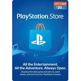 Tarjeta Psn 20 Usd Playstation Gift Card - Usa - En Minutos