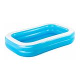 Pileta Inflable Rectangular Bestway 54006 De 2.62m X 1.75m X 51cm 778l Color Azul/blanco