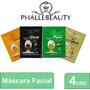 Kit Com 4 Sachês De Máscara Facial - Phállebeauty Original