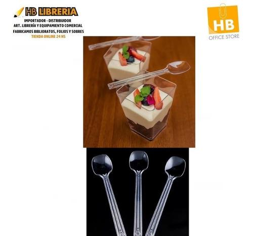 Mini Cucharitas 11,5cm - Para Shots Bocaditos Postre X100 U