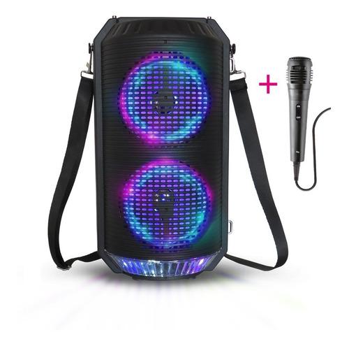 Parlante Karaoke Torre Portátil Bluetooth Unnic + Microfono