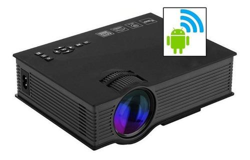 Mini Projetor Led Portátil Uc 68 Wifi 1200 Lumens Data Show