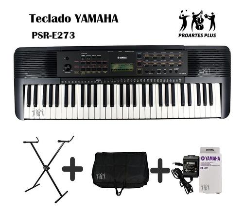 Teclado Yamaha Psr-e273 +base+estuche Lona+adaptador Pa-3c