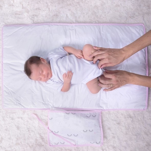 Trocador Portátil Com Porta Fralda Para Bolsa Bebê