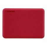 Disco Duro Externo Toshiba Canvio Advance Hdtca10x 1tb Rojo
